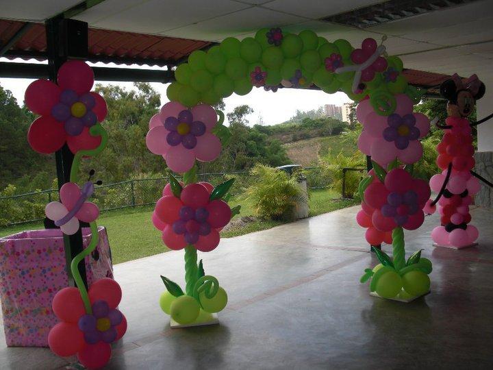 cumpleaos infantil nia arco flores mariposas